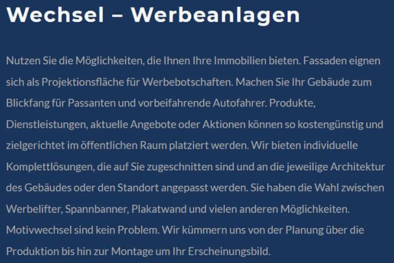 Werbung eindrucksvoll in Szene setzen in  Magstadt