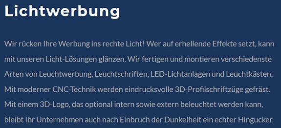 komplette Werbeprogramm aus einer Hand in  Altbach